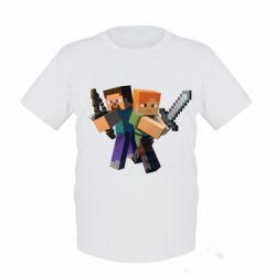 Детская футболка Minecraft Fan Art