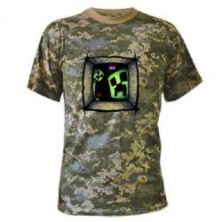 Камуфляжная футболка Minecraft Game - FatLine