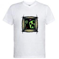 Мужская футболка  с V-образным вырезом Minecraft Game - FatLine