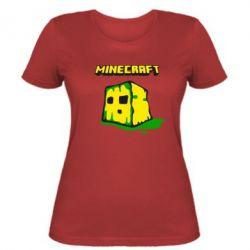 Женская футболка Minecraft Head - FatLine