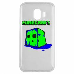 Чохол для Samsung J2 2018 Minecraft Head