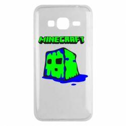 Чохол для Samsung J3 2016 Minecraft Head