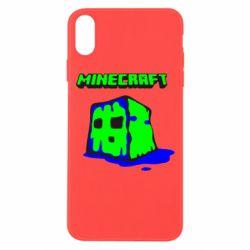 Чохол для iPhone Xs Max Minecraft Head