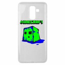 Чохол для Samsung J8 2018 Minecraft Head