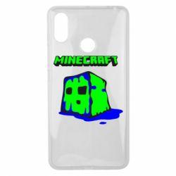 Чехол для Xiaomi Mi Max 3 Minecraft Head