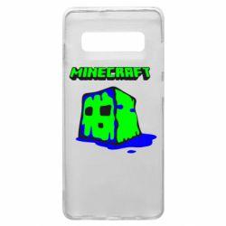 Чохол для Samsung S10+ Minecraft Head