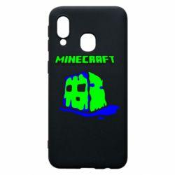 Чохол для Samsung A40 Minecraft Head