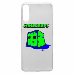 Чохол для Samsung A70 Minecraft Head