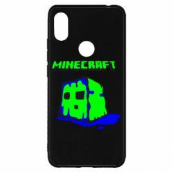 Чехол для Xiaomi Redmi S2 Minecraft Head