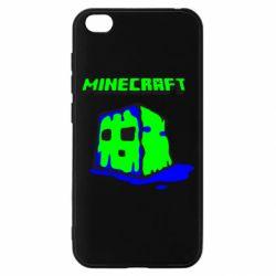 Чехол для Xiaomi Redmi Go Minecraft Head