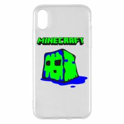 Чохол для iPhone X/Xs Minecraft Head