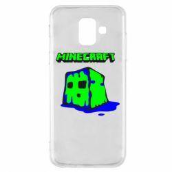 Чохол для Samsung A6 2018 Minecraft Head