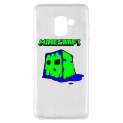 Чохол для Samsung A8 2018 Minecraft Head