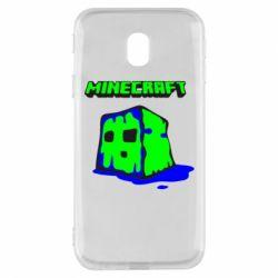Чохол для Samsung J3 2017 Minecraft Head