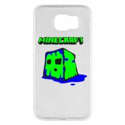 Чохол для Samsung S6 Minecraft Head