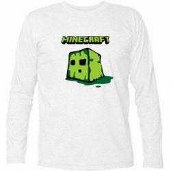 Футболка с длинным рукавом Minecraft Head - FatLine