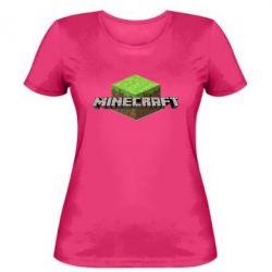 Женская футболка Minecraft Land - FatLine