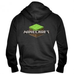 Мужская толстовка на молнии Minecraft Land - FatLine