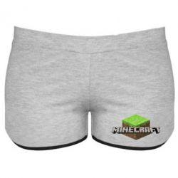 Женские шорты Minecraft Land - FatLine