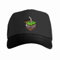 Кепка-тракер Minecraft Logo Сube - FatLine