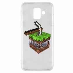 Купить Чехол для Samsung A6 2018 Minecraft Logo Сube, FatLine