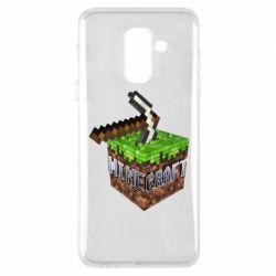 Купить Чехол для Samsung A6+ 2018 Minecraft Logo Сube, FatLine