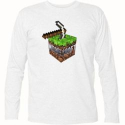 Футболка с длинным рукавом Minecraft Logo Сube - FatLine