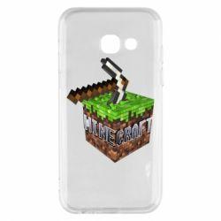 Купить Чехол для Samsung A3 2017 Minecraft Logo Сube, FatLine