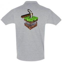 Футболка Поло Minecraft Logo Сube