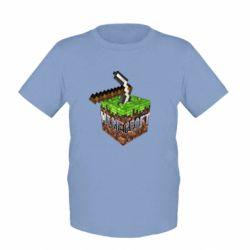Детская футболка Minecraft Logo Сube