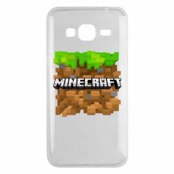 Чохол для Samsung J3 2016 Minecraft Main Logo