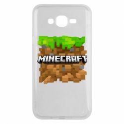 Чохол для Samsung J7 2015 Minecraft Main Logo