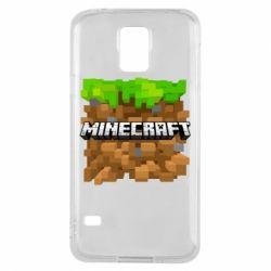 Чохол для Samsung S5 Minecraft Main Logo