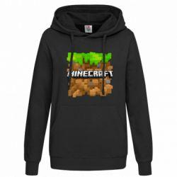 Женская толстовка Minecraft Main Logo - FatLine