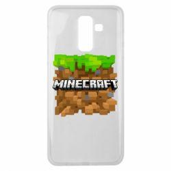 Чохол для Samsung J8 2018 Minecraft Main Logo