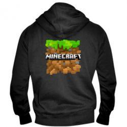 Мужская толстовка на молнии Minecraft Main Logo - FatLine