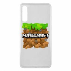 Чохол для Samsung A7 2018 Minecraft Main Logo
