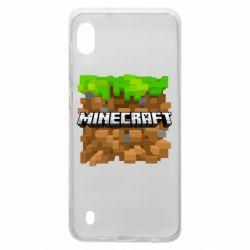 Чохол для Samsung A10 Minecraft Main Logo