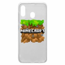 Чохол для Samsung A20 Minecraft Main Logo