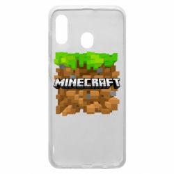 Чохол для Samsung A30 Minecraft Main Logo