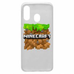 Чохол для Samsung A40 Minecraft Main Logo