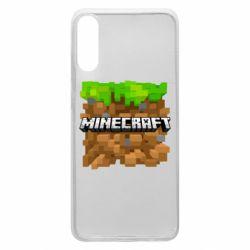 Чохол для Samsung A70 Minecraft Main Logo