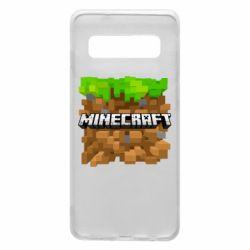 Чохол для Samsung S10 Minecraft Main Logo