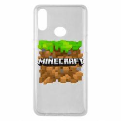 Чохол для Samsung A10s Minecraft Main Logo
