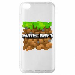 Чохол для Xiaomi Redmi Go Minecraft Main Logo