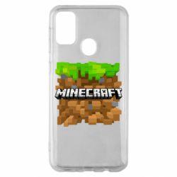 Чохол для Samsung M30s Minecraft Main Logo