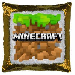 Подушка-хамелеон Minecraft Main Logo
