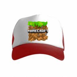 Дитяча кепка-тракер Minecraft Main Logo