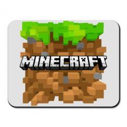 Коврик для мыши Minecraft Main Logo - FatLine
