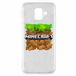 Чохол для Samsung A6 2018 Minecraft Main Logo